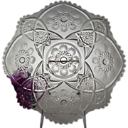 """EAPG Cambridge Glass Co. SNOWFLAKE 11"""" Round Platter Underplate"""