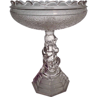 EAPG Hobbs, Brockunier Co. Tree of Life - LITTLE SAMUEL Epergne Base 1877
