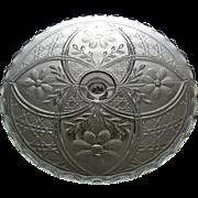 EAPG 1915 Pedestal Cake Stand Salver CREOLE aka Cosmos and Cane, Indiana Glass Co.