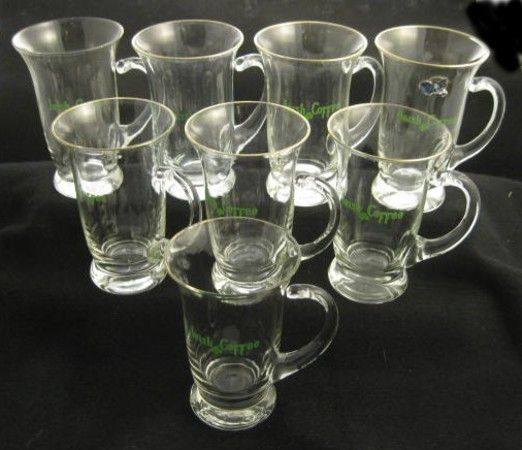 Lot of 8 West Virginia Specialty Hand Made Irish Coffee Mugs