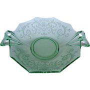 Fostoria Versailles Green Sweetmeat Elegant Depression Glass