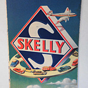 Nebraska Map Skelly Oil vintage Propeller Airplane & Cars