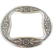 French Silver Coloured Metal Belt Buckle
