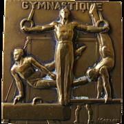 French Bronze Gymnastique Medal by Morlon