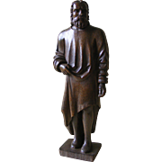 French 19th Century Carved Wood Religious Figure