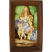 French 19th Century Ceramic Plaque