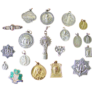 A Collection Of Religious Pendants