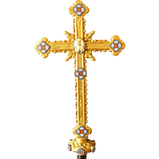 19th Century French Gilt Bronze Processional Cross