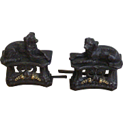 French Cast Iron Dogs from a Fireplace Fender