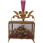 French Glass Marriage Casket