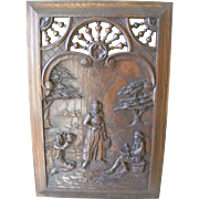 A French Carved Breton Wood Panel