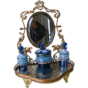 19th Century French Dressing Table Stand with Scent Bottles