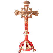 French Silver Plated Alter or Table Cross