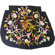 French Floral Needlework Seat Cover
