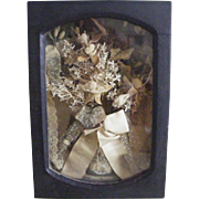 19th Century Wedding Bouquet in Shadow Box