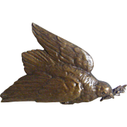 A French Bronze Plaque Dove of Peace