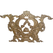 19th Century Bronze Cherub Architectural Element