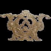 19th Century Bronze Cherub Architectural Element