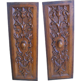 A Pair of French 19th Century Carved Panels