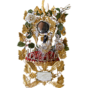 French Marriage Crown Cushion