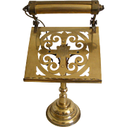 19th Century Brass Table Top Lectern