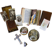 A Collection Of French Religious Items
