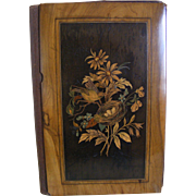 French 19th Century Marquetry Folder With Bird and Nest