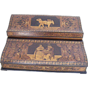 19th Century French Writing Slope with Provencal Scenes