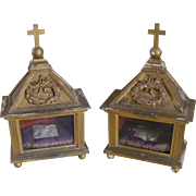 A Pair of 19th Century French Reliquaire Caskets
