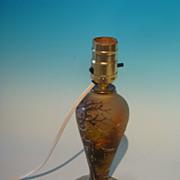 Cameo lamp base, signed Peynaug
