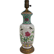 Chinese Export  porcelain lamp