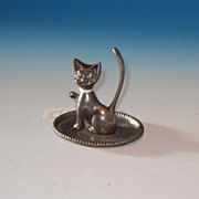 Silver Plate Cat Ring Tree