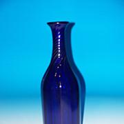 Very Tall Cobalt Blue Decanter
