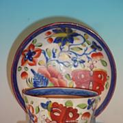 Gaudy Dutch Butterfly Teabowl & Saucer