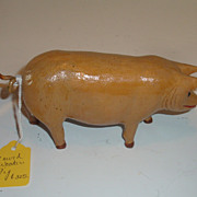 Small wood carving of a Pig