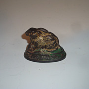 A Rare Rabbit Cast Iron Still Bank