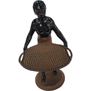 A Nineteenth Century painted cast iron figure of a Blackamoor