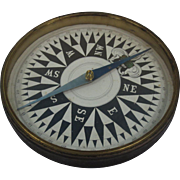 Early 19th Century Large Brass Encased Compass