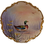 11 1/2 Limoges Game Plate with Mallard