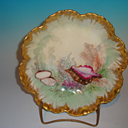 Limoges Console Bowl with shell motif