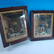 Pair of Smugglers prints, England, 19th century