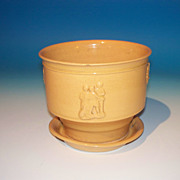 Yelloware Flower Pot with Saucer Base