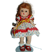 1952 Vogue GINNY TINA Kindergarten Series #29 RARE Red Head Braids and RARE ROOT BEER Eyes!!