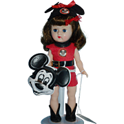 """1956 Cosmopolitan GINGER Doll Wearing Red """"MOUSEKARADE"""" Outfit  COMPLETE and Adorable!"""