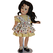 "Beautiful 14"" TONI Doll by IDEAL.  Gorgeous Hard to Find Dark Hair.  All original outfit - Nice Find!"