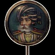 Antique Sultan Turban 14K Rose Gold Stick Pin