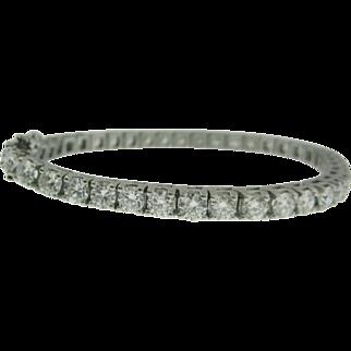 9.02 Carat Diamond Tennis Bracelet F Color VS Clarity - 14K Gold - CLASSIC LUXURY