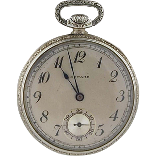 Vintage Circa 1921 14K Gold E. Howard Watch Co. Series Three Pocket Watch