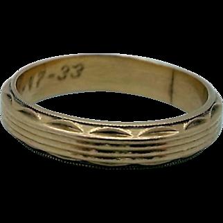 1930's 14K Gold Ring - Cool Design!