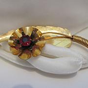 Large Signed Kilpatrick Gold-Filled Flower/Leave Brooch